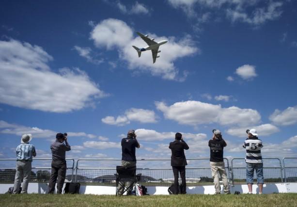 Le salon aéronautique de Farnborough ouvre ses portes lundi au sud-ouest de... (Photo AFP)