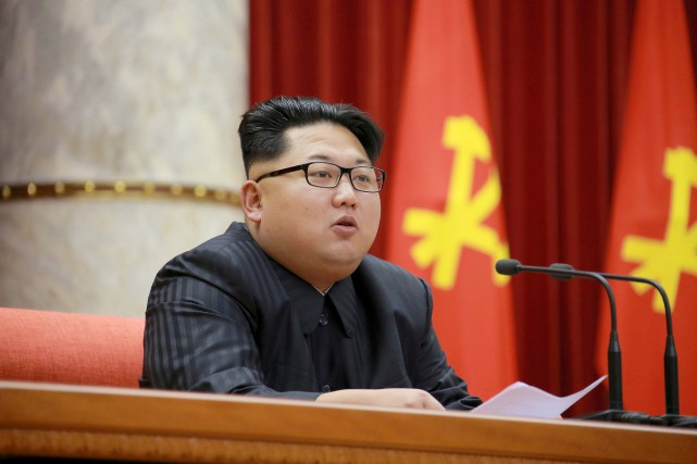 Le leader nord-coréen Kim Jong-un.... (PHOTO KCNA via REUTERS)
