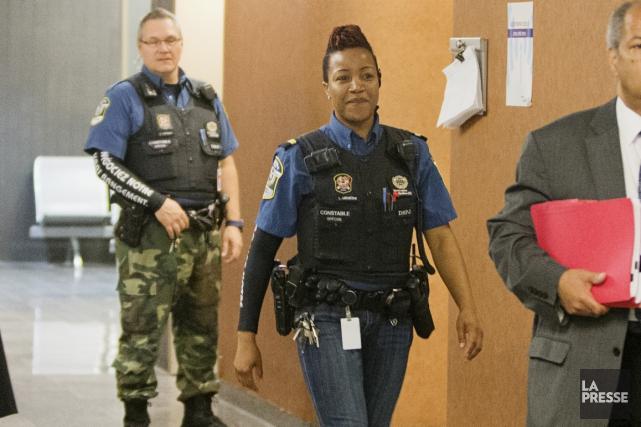 Les constables spéciaux, qui sont chargés d'assurer la... (Photo archives La Presse)