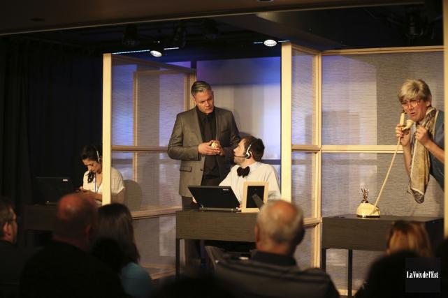 Laurie Gagné, Martin Gougeon, Patrick Goleau et Benjamin... (Julie Catudal, La Voix de l'Est)