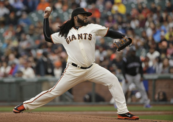 Johnny Cueto des Giants de San Francisco.... (Associated Press)