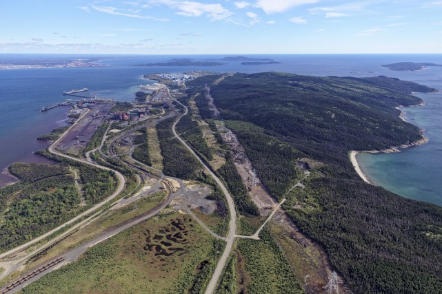 Les installations minières de Cliffs Natural Resources ont... (Fournie par le Port de Sept-Îles)