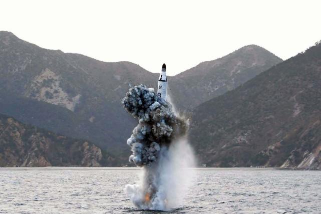 Samedi, Pyongyang a annoncé avoir testé un missile... (Photo archives AFP)