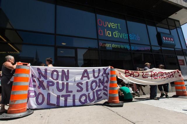 Après avoir reporté la cause en raison d'une manifestation musclée, le mois... (Photo Hugo-Sébastien Aubert, La Presse)