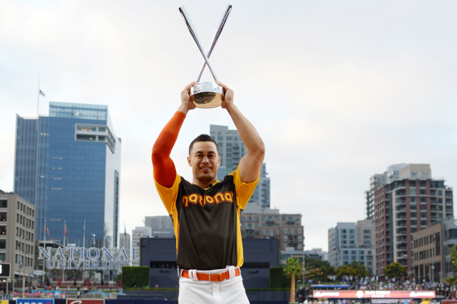 Giancarlo Stanton a établi un nouveau record en... (Photo Jake Roth, USA Today)