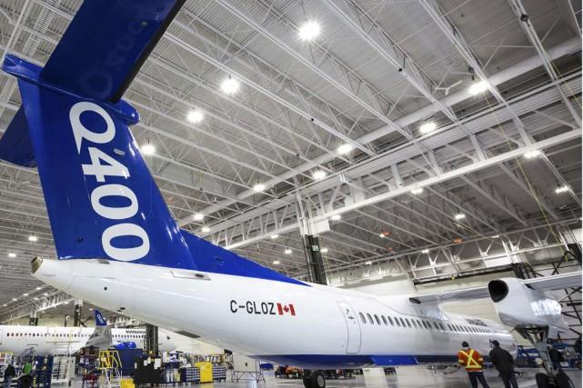L'avion Q400 est le dernier-né de la gamme... (Fournie par Bombardier)