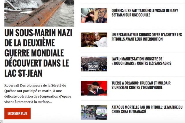 Des manchettes sur le site du Journal de... (Capture d'écran du site du Journal de Mourréal)