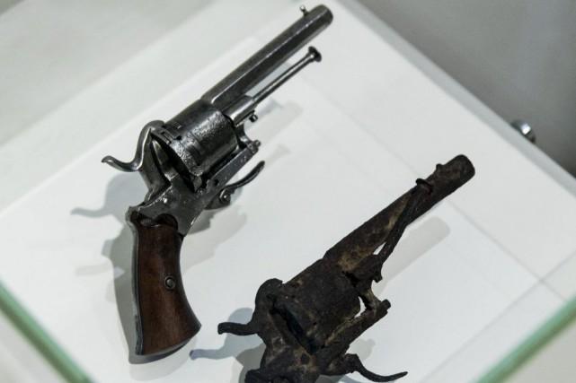 «Ce petit pistolet rouillé, d'une collection privée et... (PHOTO AFP)
