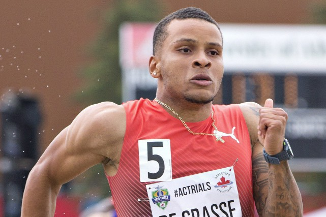Le jeune sprinter canadien Andre De Grasse a amorcé... (Photo Jason Franson, PC)