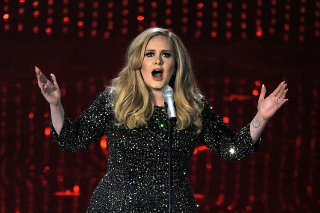 Adele chantera à la cérémonie de remise des prix Grammy, qui se déroulera le... (PHOTO ARCHIVES AP)