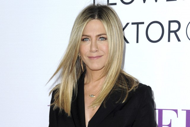 Jennifer Aniston en avril. Les rumeurs sur une... (AP, Richard Shotwell)