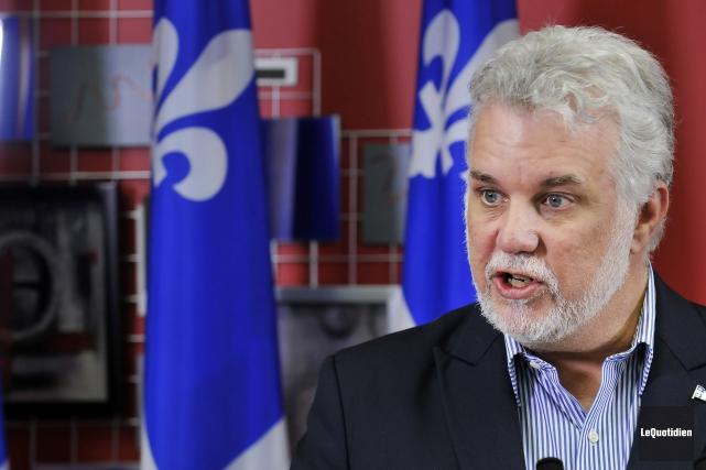 Le premier ministre Philippe Couillardaccuse le précédent gouvernement... (archives Le Quotidien)