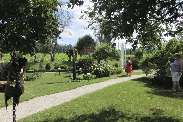 L'art sculptural s'invite dans les jardins du Domaine... (fournie)