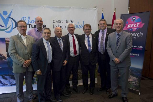Luc Marchand et Louis-Serge Gagnon, administrateurs de Bioénergie... (Courtoisie)