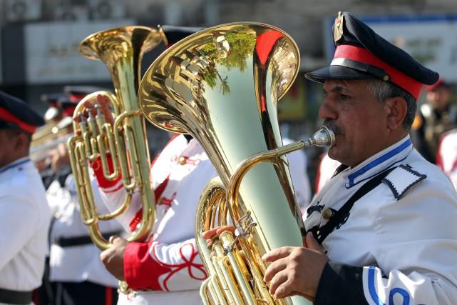 Le défilé à Bagdad a été organisé pour... (PHOTO AFP)