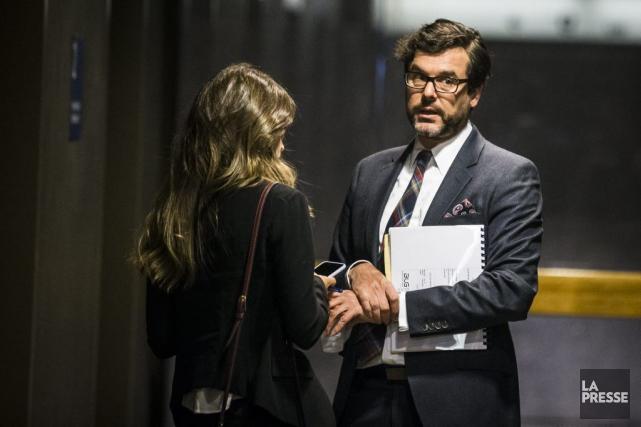 Mathieu Piché-Messier, avocat principal de Julie Snyder dans... (PHOTO OLIVIER PONTBRIAND, LA PRESSE)