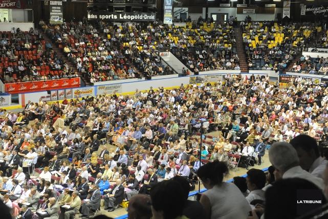 Les Témoins de Jéhovah sont de retour à Sherbrooke pour leur assemblée générale... (Archives La Tribune, Maxime Picard)