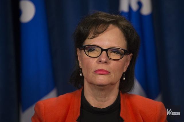La ministre québécoise déléguée à la Protection de... (Archives, La Presse)