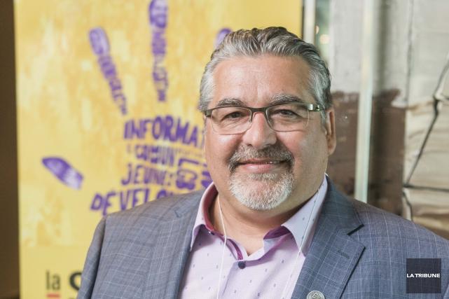 Denis Beaudin, président du Conseil central des syndicats... (Archives La Tribune, Frédéric Côté)