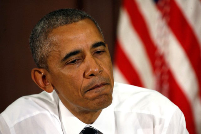 Le président américain, Brack Obama... (Photo Kevin Lamarque, REUTERS)