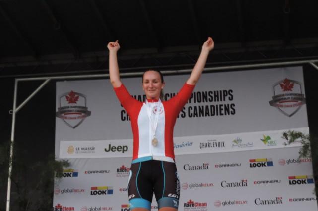 Anne-Julie Tremblay a été couronnée championne canadienne de... (Photo courtoisie, Marlène Payette)