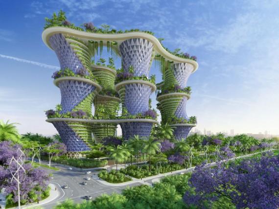 Serait-il utopique d'imaginer que d'ici quelques années nous pourrions vivre... (Vincent Callebault Architectures)