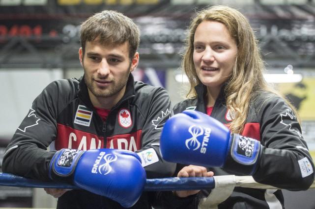 Arthur Biyarslanov et Ariane Fortin, deux des trois... (Photo Ryan Remiorz, PC)