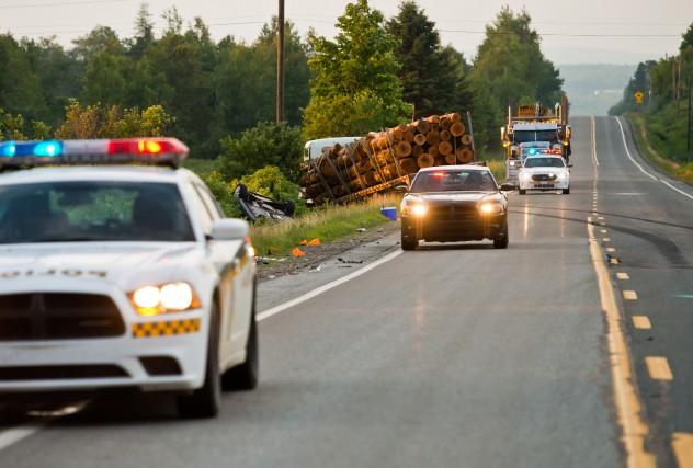 La collision mortelle est survenue vers 15 h... (Spectre Média, Jessica Garneau)