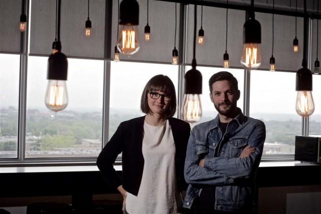 Gabrielle Madé et Micho Marquis-Rose du studio Le... (Photo André Pichette, La Presse)