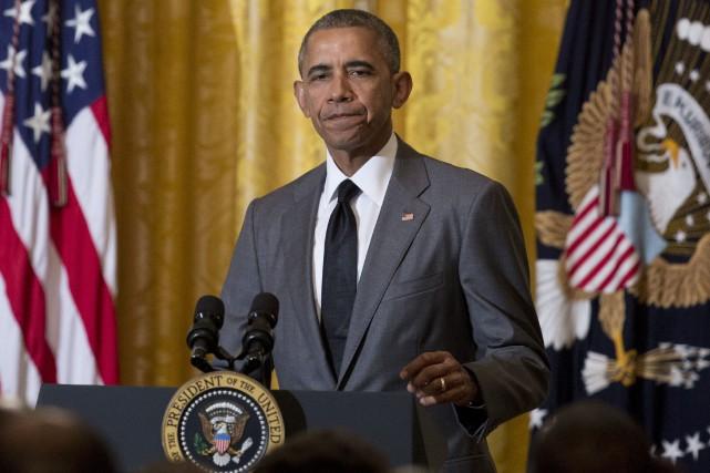 Le président américain, Barack Obama... (AP, Carolyn Kaster)