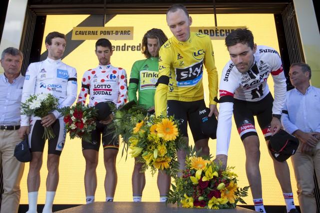 Adam Yates, Thomas De Gendt, Peter Sagan, Chris... (AP, Peter Dejong)
