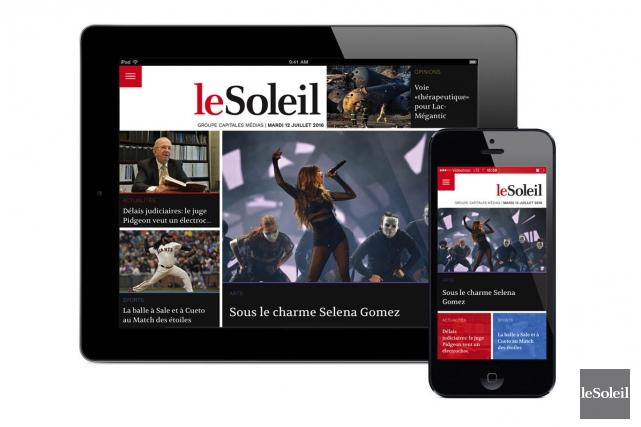 Notre nouvelle application qui vous permet de lire nos journaux sur votre... (Infographie Le Soleil)