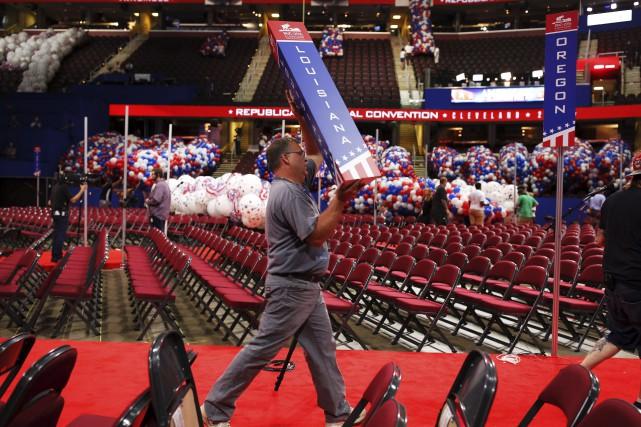 Les préparatifs vont bon train pour la convention... (AFP, Dominick Reuter)