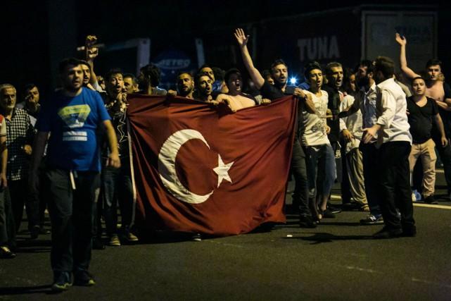 L'appel du président turc à contester dans les... (AFP)
