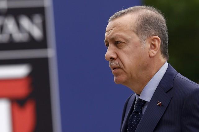 Le président turc Erdogan.... (REUTERS)