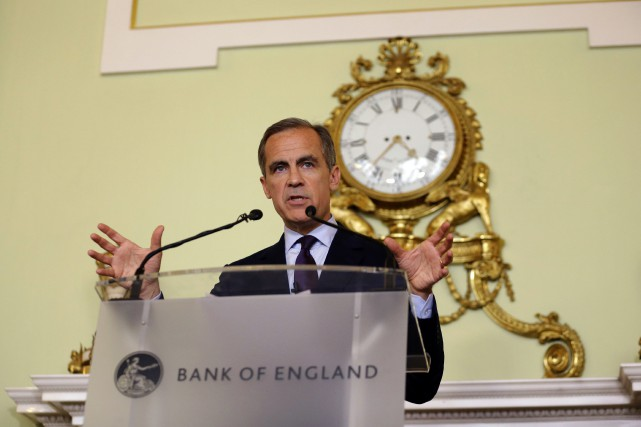 Le gouverneur de la Banque d'Angleterre, Mark Carney.... (Associated Press)