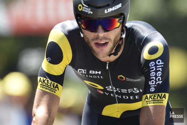 Le cycliste de Chicoutimi Antoine Duchesne... (Photo AFP, Jean-Philippe Ksizek)