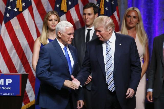 À l'opposé de Trump, Pence est discipliné, discret,... (AFP)