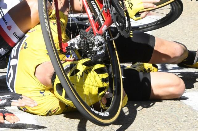 Dans le cas des casques de vélo classiques,... (AP, Bernard Papon)