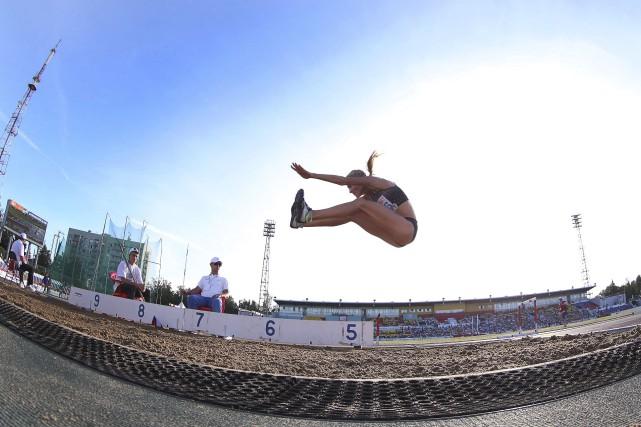 La Russe Darya Klishina a été autorisé à... (AFP)