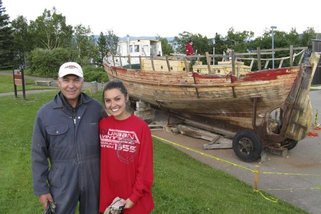 Yves Mercier et sa fille Gabrielle Mercier, descendants... (Collaboration spéciale Geneviève Gélinas)