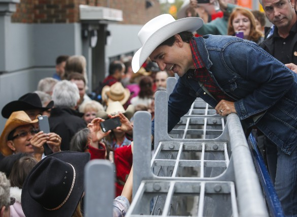 Justin Trudeau a participé à un déjeuner organisé... (La Presse Canadienne Jeff McIntosh)