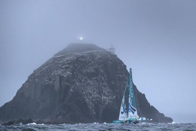 Le Musandam Oman Sail,photographié le 20 juin.... (Photo tirée de Twitter, Équipe Oman Sail)