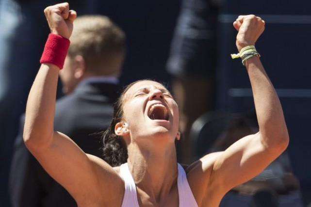 «C'est incroyable de gagner à la maison», s'est... (PHOTO PETER KLAUNZER, AP)