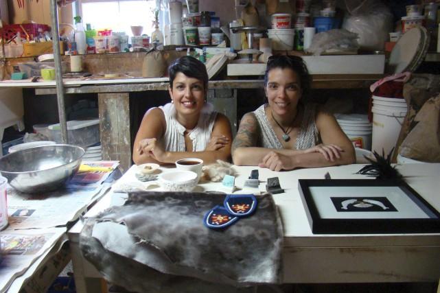 Judith Dubord (Saint-Jean-Port-Joli) et Julie Grenier (Kuujjuaq et... (Collaboration spéciale, Josianne Desloges)
