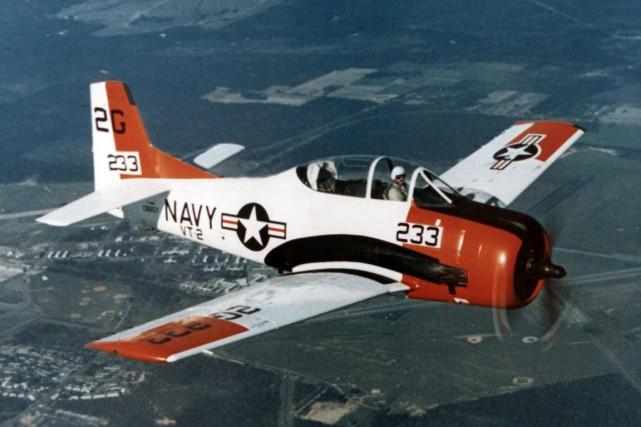 UnT-28 Trojan, du même type que celui qui... (Photo Wikimedia Commons)