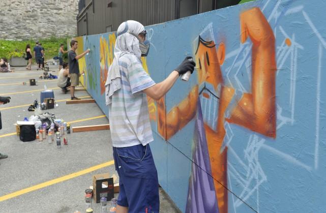 Boris, un artiste originaire de Sherbrooke vivant désormais... (Spectre média, Maxime Picard)
