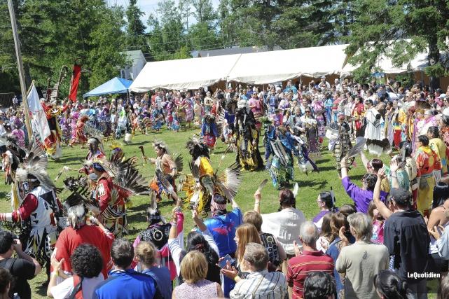 La popularité du Grand Rassemblement des Premières nations... (Photo Le Quotidien, Gimmy Desbiens)