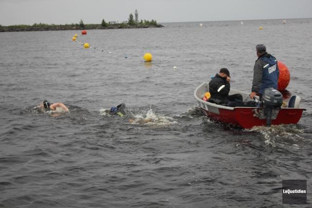 La Sirène du Québec s'est élancée dans les... (Photo Le Quotidien, Isabelle Tremblay)