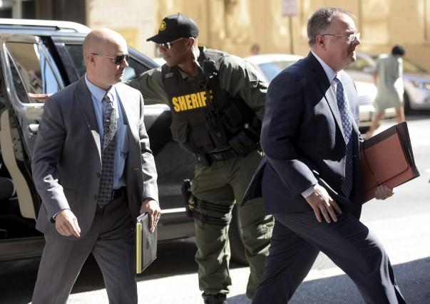 Brian Rice, à gauche,était le quatrième membre des... (AP)